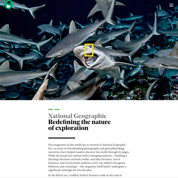 National Geographic redesign | Godfrey Dadich Partners