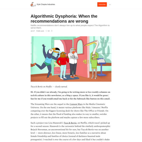 Algorithmic Dysphoria: When the recommendations are wrong