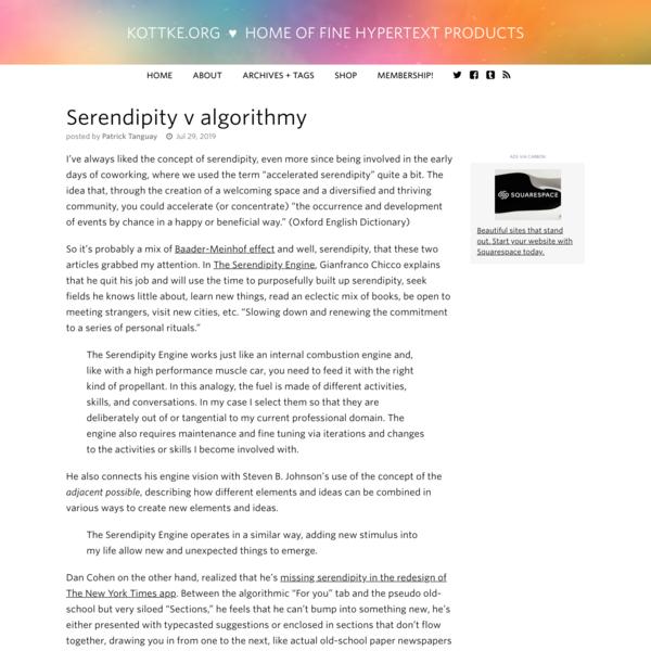 Serendipity v algorithmy
