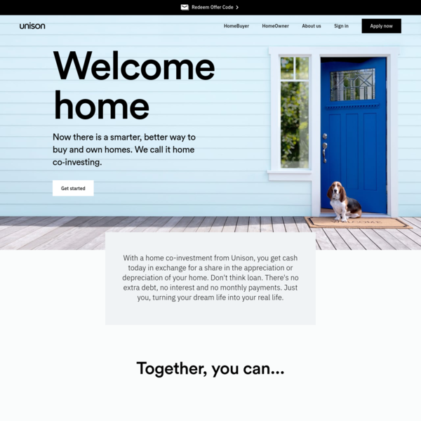 Unison | Home Co-Investing. Together, You Can.