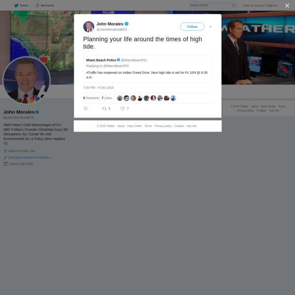 John Morales on Twitter