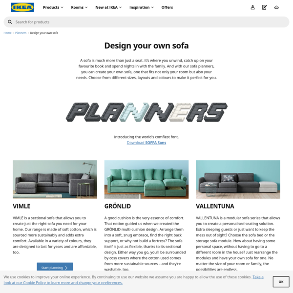 Design your own sofa | Planners