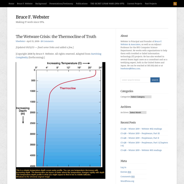 The Wetware Crisis: the Thermocline of Truth