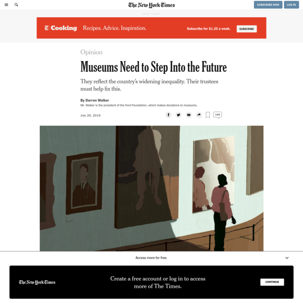 Opinion | Museums Need to Step Into the Future - The New York Times