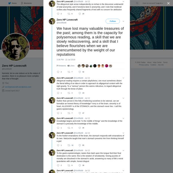 Zero HP Lovecraft on Twitter