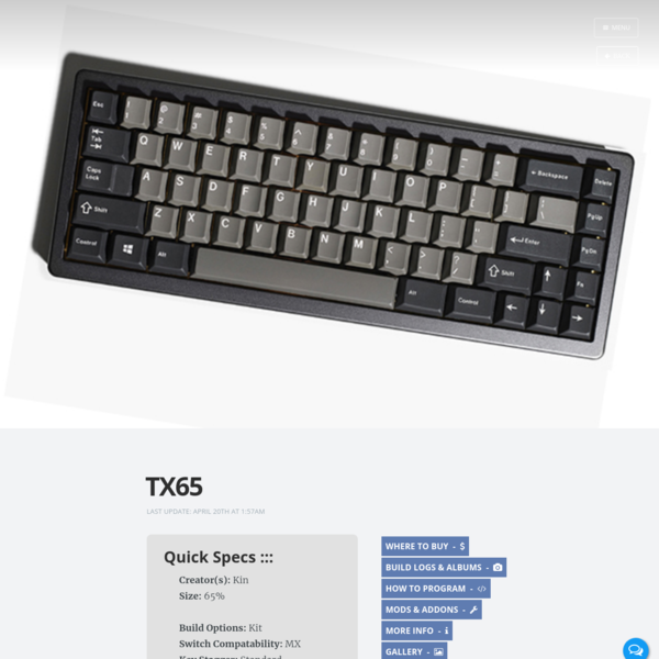 TX65 | Keyboard Catalog