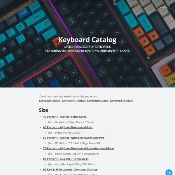 Keyboard Catalog | Keyboard Catalog