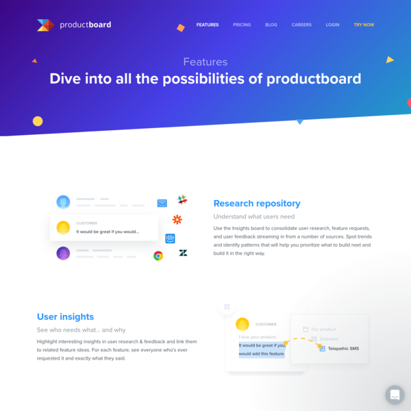 Product Management Tool Features For Managers - productboard