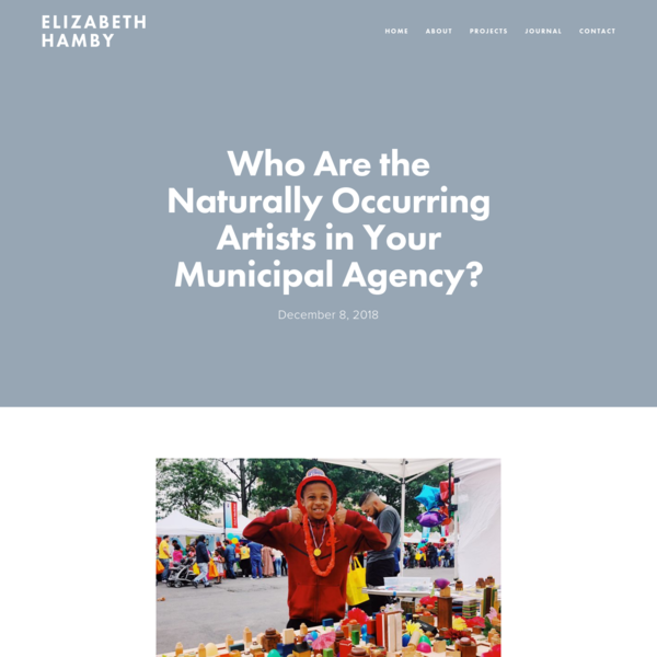 Who Are the Naturally Occurring Artists in Your Municipal Agency?