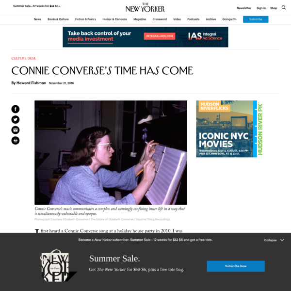Connie Converse's Time Has Come