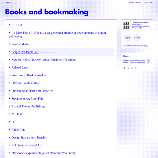Books and bookmaking