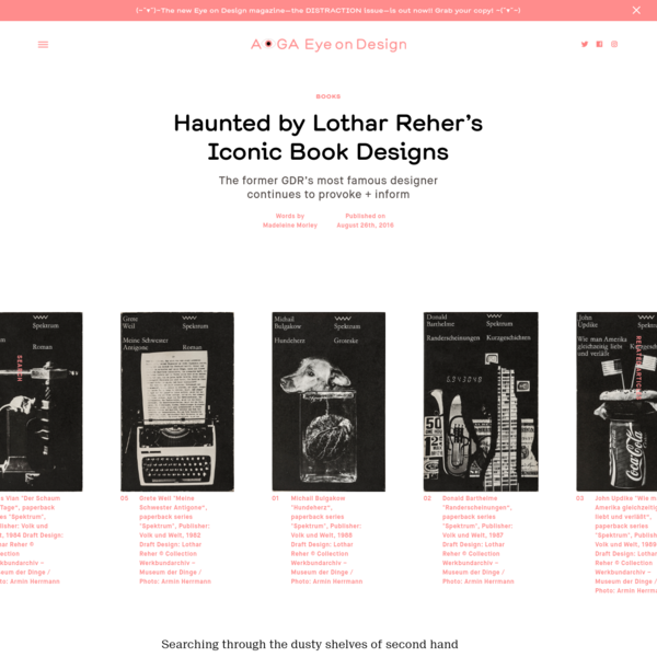 Haunted by Lothar Reher's Iconic Book Designs