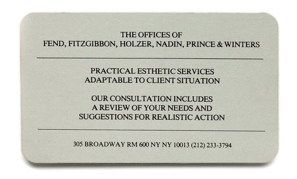 The Offices of Fend, Fitzgibbon, Holzer, Nadin, Prince & Winters (1979)