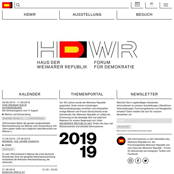 HDWR * Haus der Weimarer Republik
