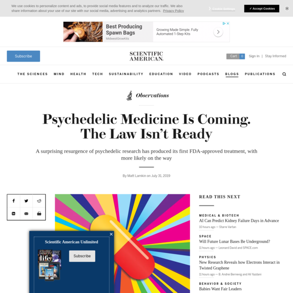 Psychedelic Medicine Is Coming. The Law Isn't Ready - Scientific American Blog Network