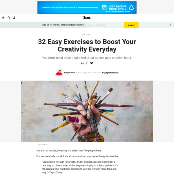 32 Easy Exercises to Boost Your Creativity Everyday