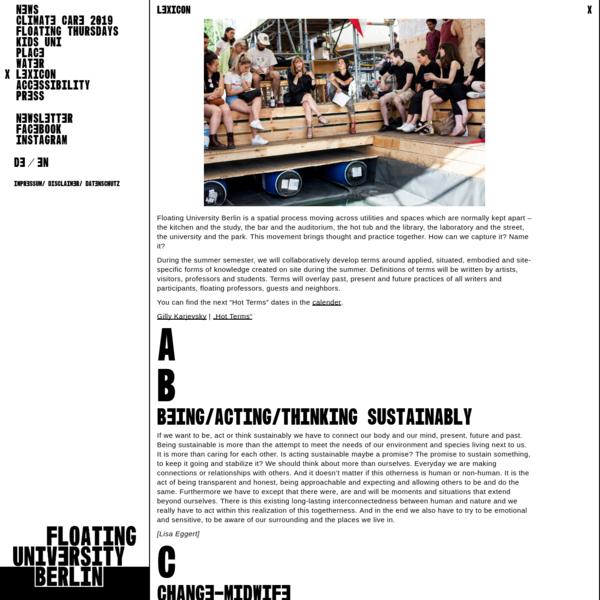 Lexicon | Floating University Berlin