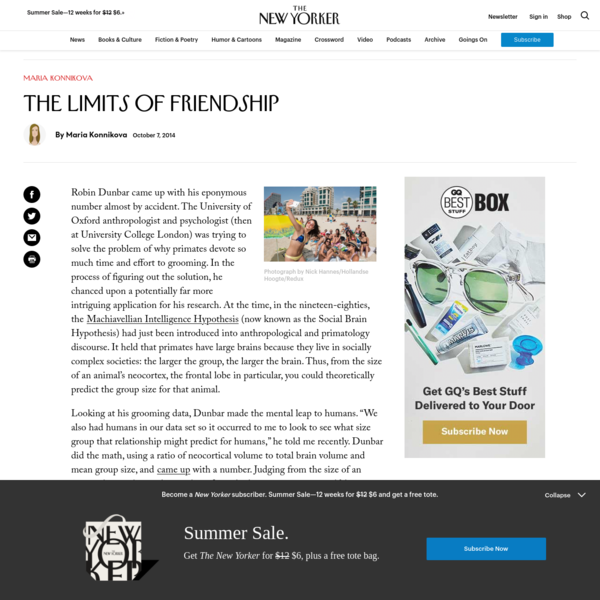 The Limits of Friendship
