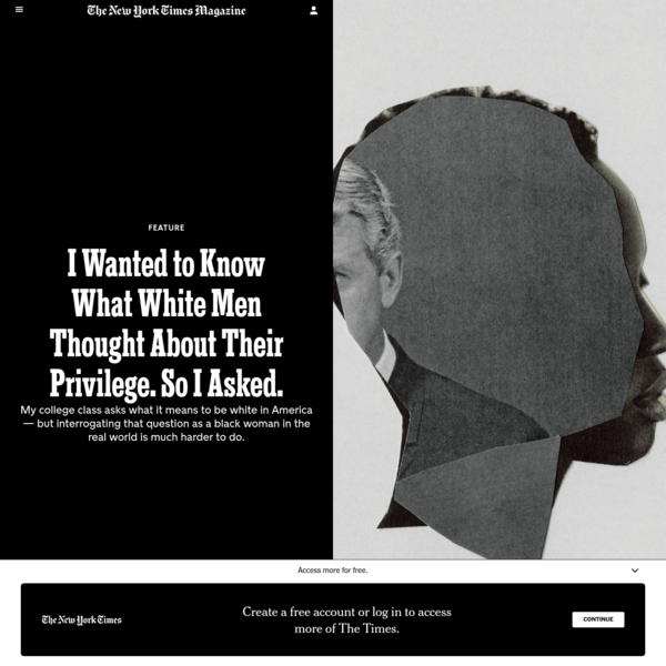 I Wanted to Know What White Men Thought About Their Privilege. So I Asked.