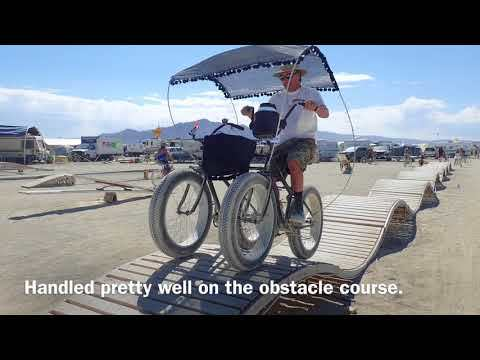 Black Rock Tandem Bike Side by Side