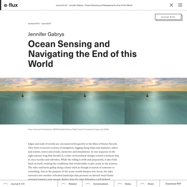 Ocean Sensing and Navigating the End of this World