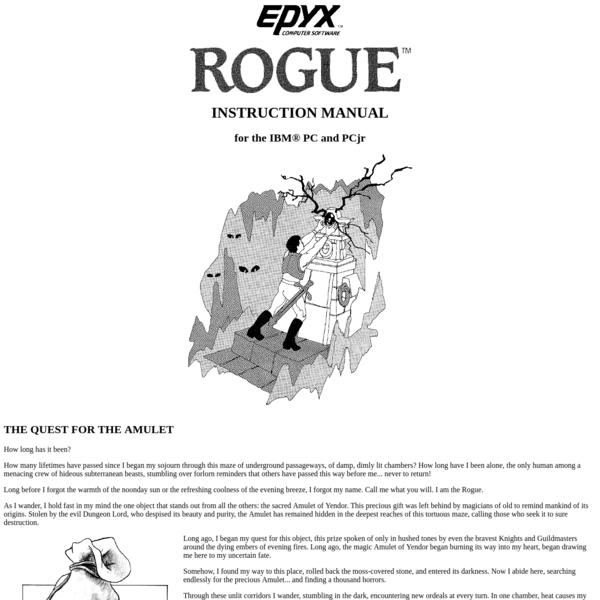 Rogue Instruction Manual © 1985 EPYX, Inc.