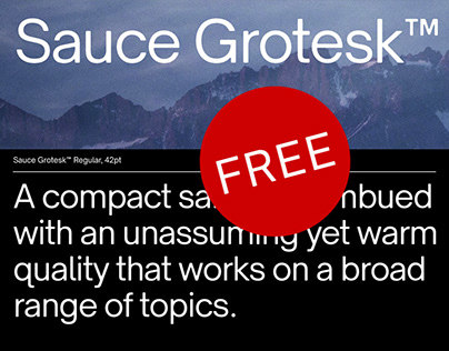 Sauce Grotesk Typeface