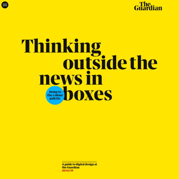 The Guardian digital design style guide