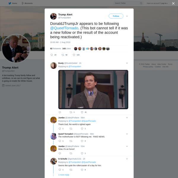 Trump Alert on Twitter