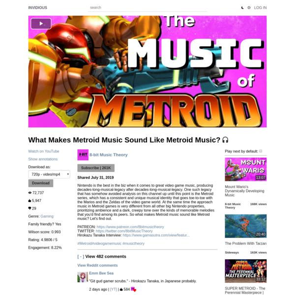 What Makes Metroid Music Sound Like Metroid Music?