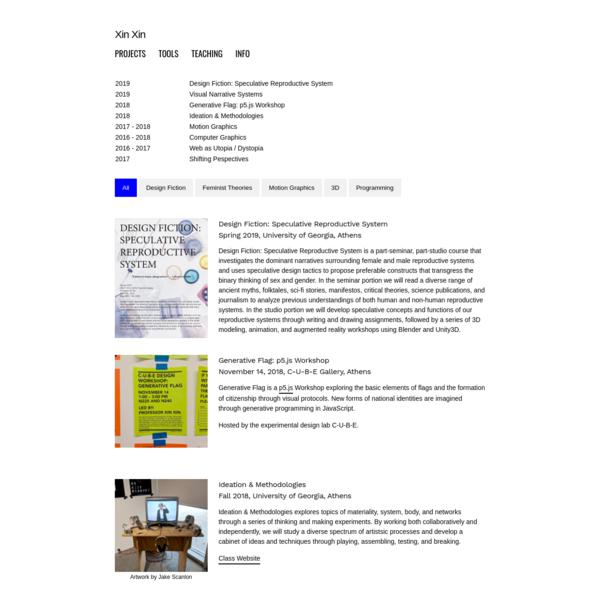 Xin Xin's teaching portal