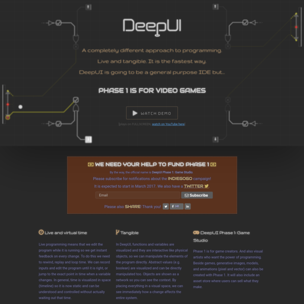 DeepUI Programming Studio: A completely different approach to programming