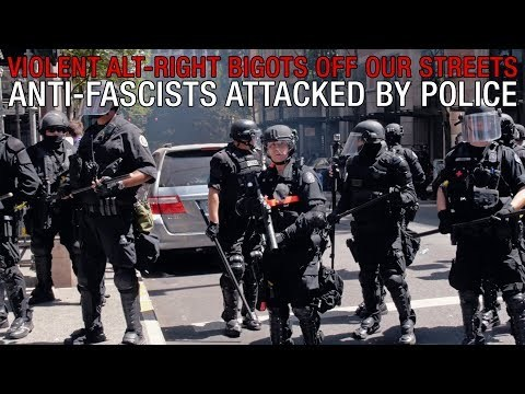 'Violent Alt-Right Bigots Off Our Streets' Anti-fascists Attacked by Police - YouTube