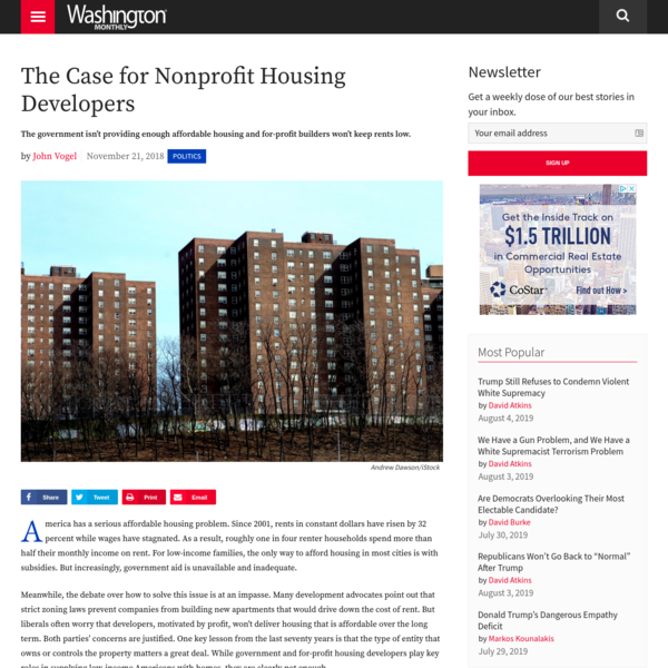 The case for nonprofit housing developers
