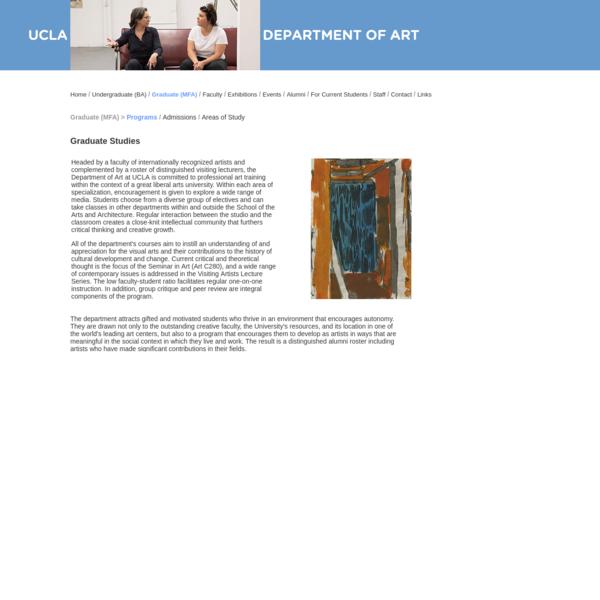 UCLA Department of Art | Graduate (MFA)