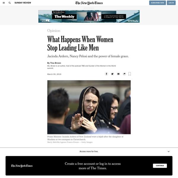 Opinion | What Happens When Women Stop Leading Like Men