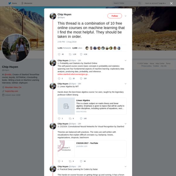 Chip Huyen on Twitter