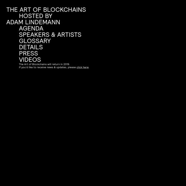 The Art of Blockchains