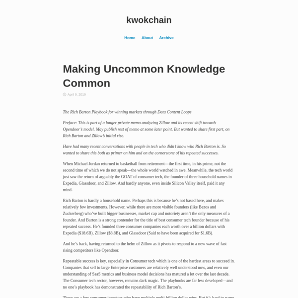 Making Uncommon Knowledge Common