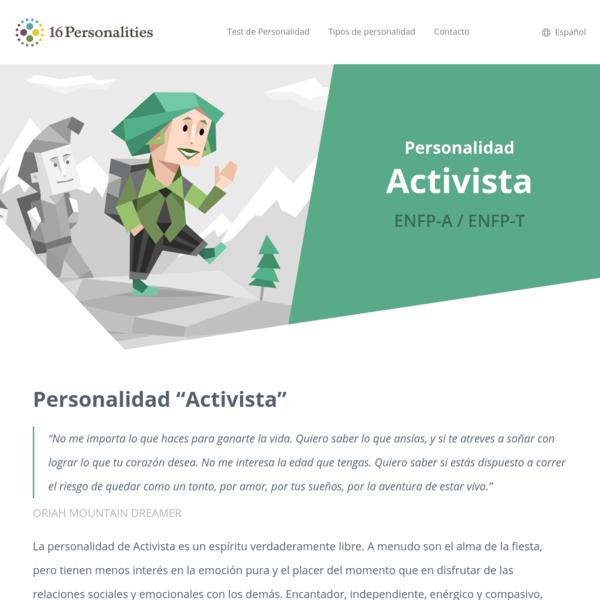 """Personalidad """"Activista"""""""