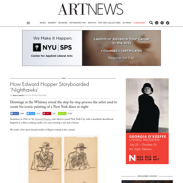 How Edward Hopper Storyboarded 'Nighthawks' -