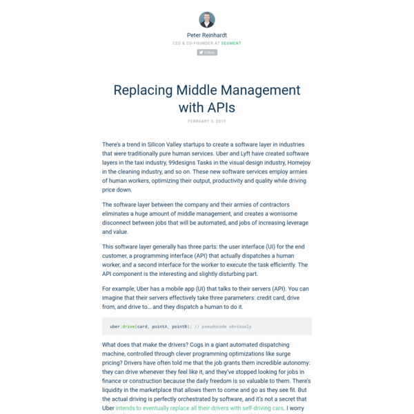 Replacing Middle Management with APIs