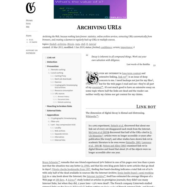 Archiving URLs
