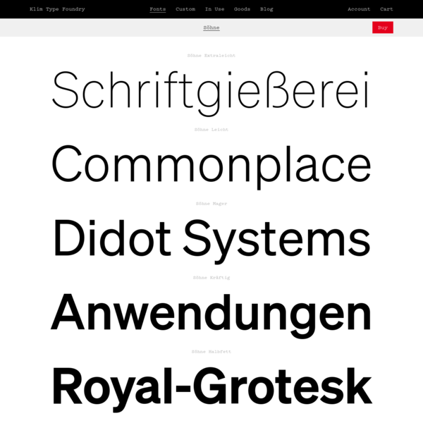 Klim Type Foundry · Söhne Fonts