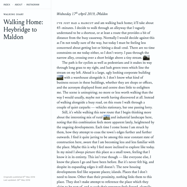 Walking Home: Heybridge to Maldon - Ashley Sheekey