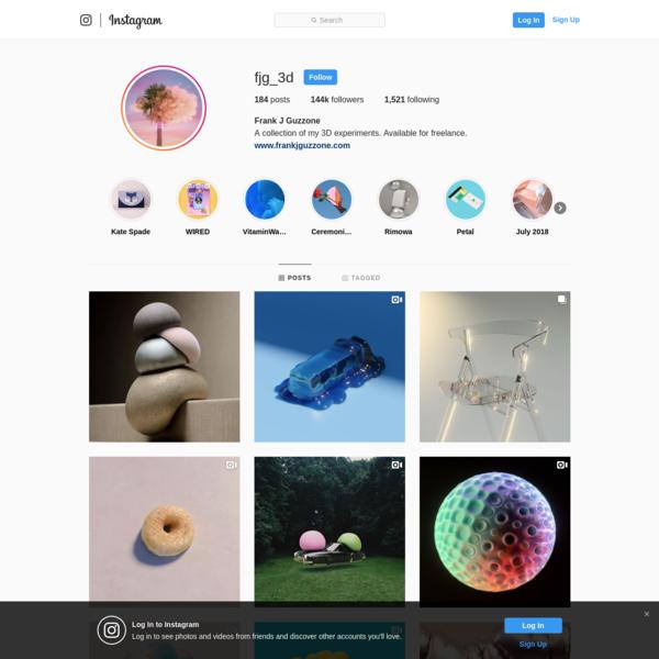 Frank J Guzzone (@fjg_3d) * Instagram photos and videos