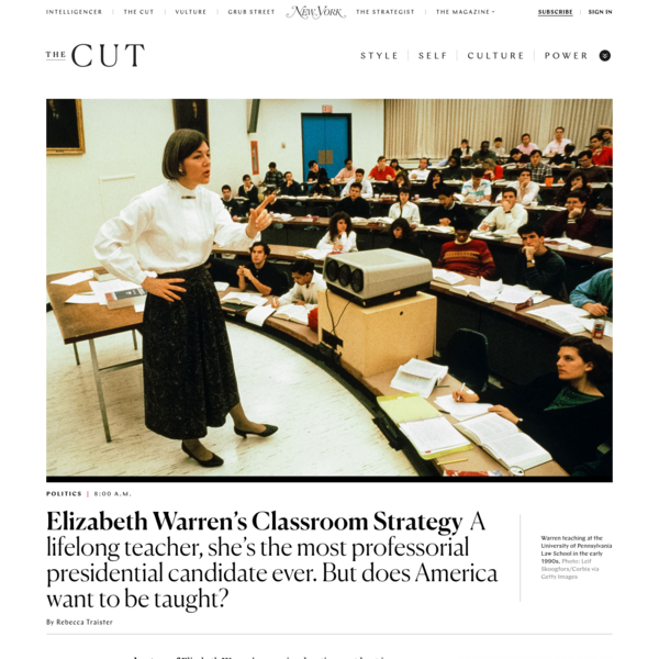 Talking Teaching With Elizabeth Warren, the Most Professorial Candidate Ever
