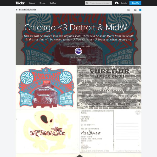 Chicago <3 Detroit & MidWest rave flyers