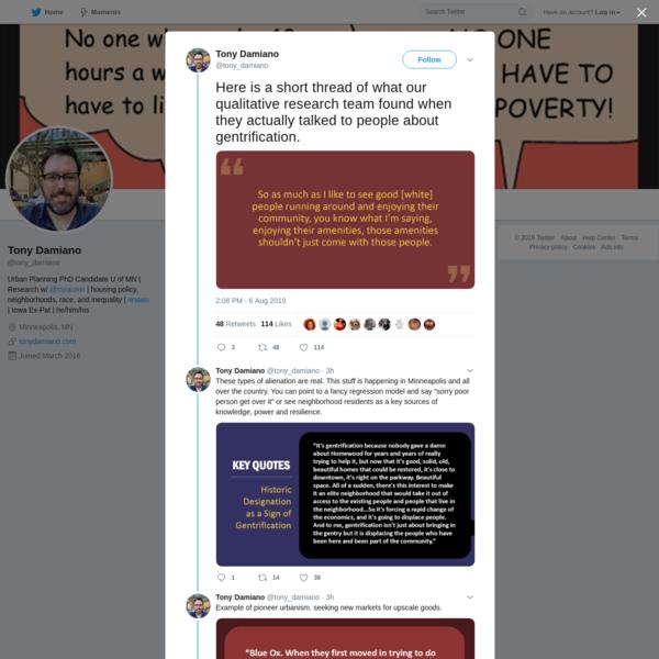 Tony Damiano on Twitter