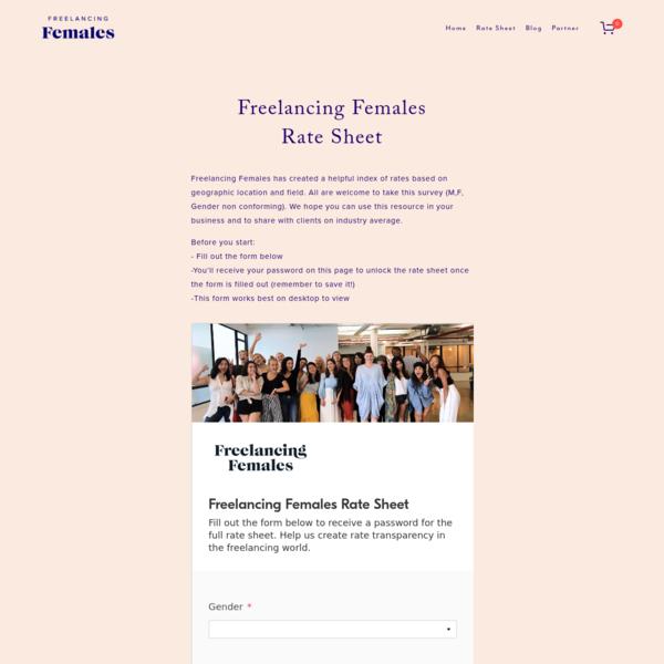 Rate Sheet - Freelancing Females